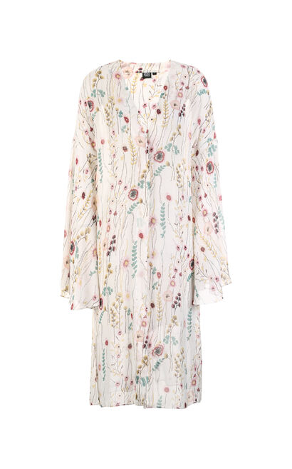 Vero Moda Floral Print Flare Sleeves Chiffon Coat|318221507, White, large