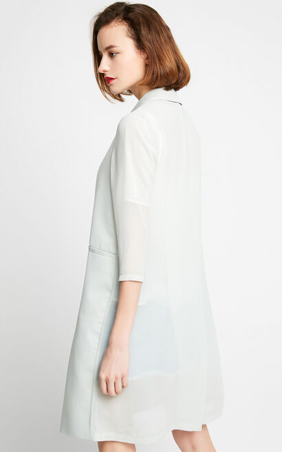 Vero Moda Mid-length 3/4 Sleeves Suit Jacket|317208526, White, large