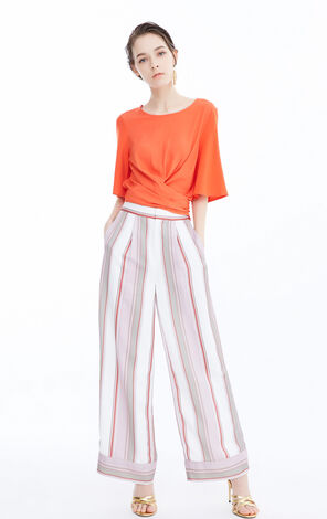 Vero Moda Women's Contrasting Stripes Wide-leg Pants|3182PL504