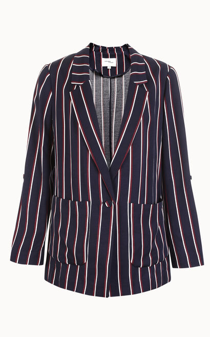 Vero Moda Women's Striped Lapel Blazer|318108510, Blue, large