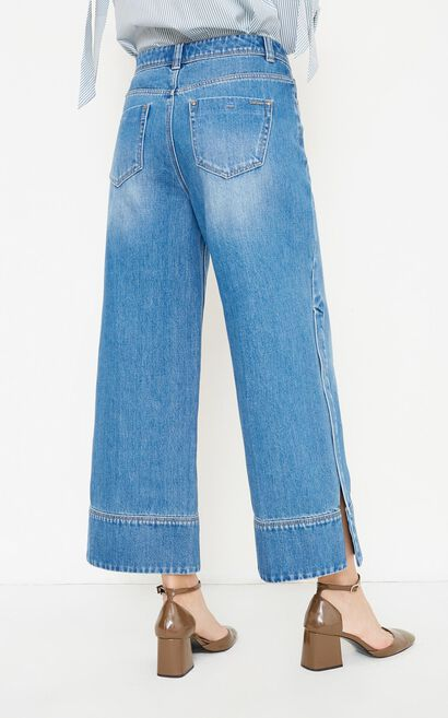 SCHOOL JOINT 9/10 HW LOOSE JEANS(NC), Aqua, large