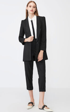 Vero Moda Slim Fit Thin Shoulder Pads One-button Suit Jacket|319308583