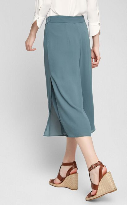 Vero Moda Draped Wide-leg Casual Capri Pants|317219502, Army Green, large
