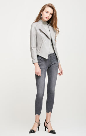 Vero Moda Slim Fit Short Sheepskin Jacket|318110514