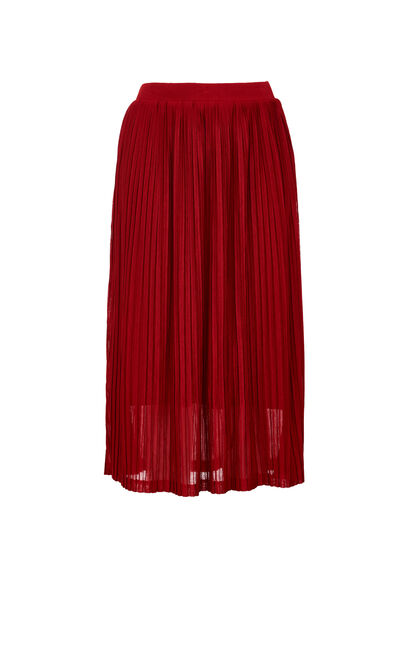 PLEATED KNIT SKIRT(VMC-DM), Red, large