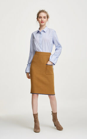 31741J508	jiaojingyu	1	Skirt	31741J508E13	Vero Moda Elasticized Stripe Hip-wrap Knitted Skirt|31741J508