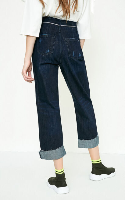 JUDY 7/8 HW LOOSE JEANS(CP), Blue, large