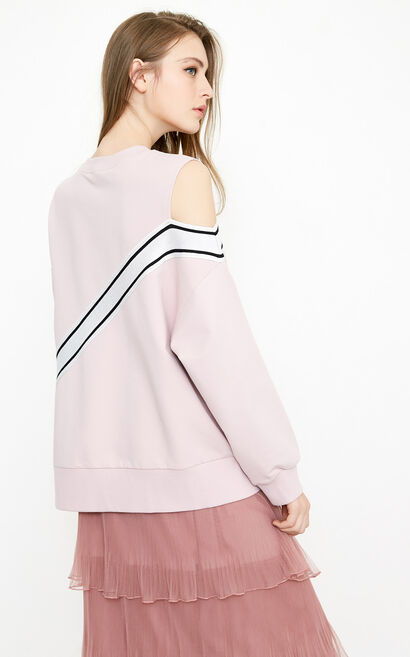 Vero Moda Women's Off-the-shoulder Striped Tops|318233502, Pink, large
