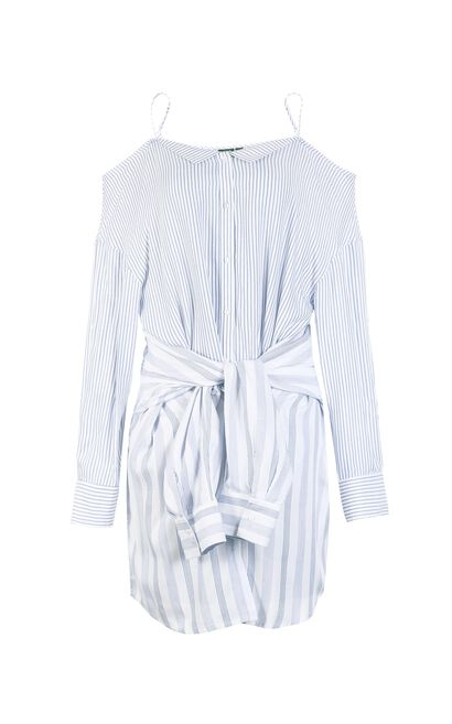 Vero Moda Women's Two-piece Stripe Pattern Shirt|318205511, Blue, large