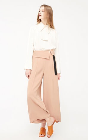 Vero Moda 2019 Women's High-rise Lace-up Loose Fit Casual Crop Pants|319150514