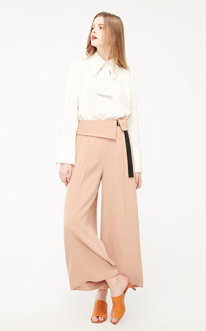 Vero Moda 2019 Women's High-rise Lace-up Loose Fit Casual Crop Pants|319150514, Tan, large