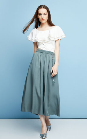 JULY SOFT 7/8 WIDE PANTS(SD)