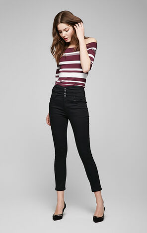 Vero Moda High-rise Buttoned Crop Jeans|317149504