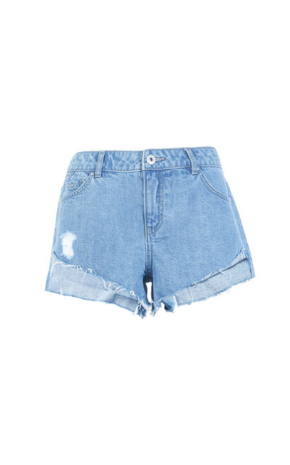 DETOUR LW DENIM SHORTS(FL), Blue, large