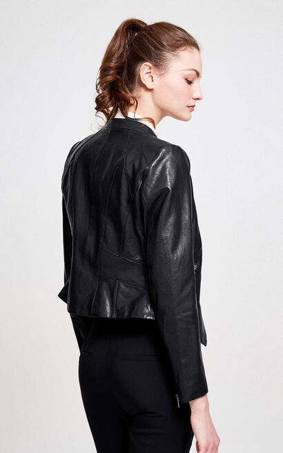 KAMALI L LEATHER JKT(VMC-NC), Black, large