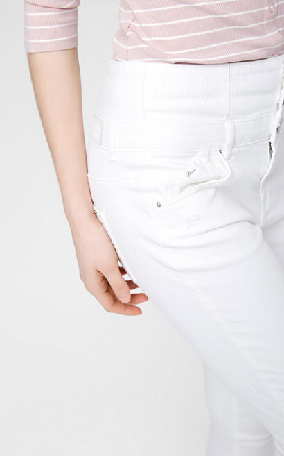 CURTAIN 7/8 HW X-SLIM JEANS(TP), White, large