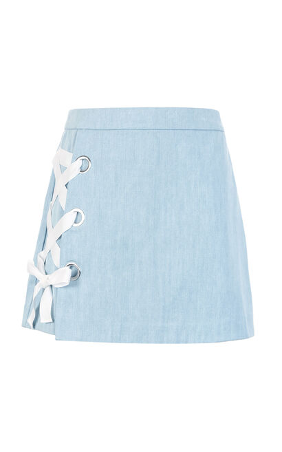 Vero Moda DAY HW DENIM SKIRT(SL), Blue, large