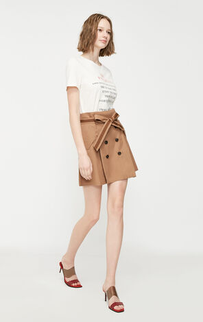 Vero Moda 2019 Spring New Double-breasted Lace-up A-line Skirt