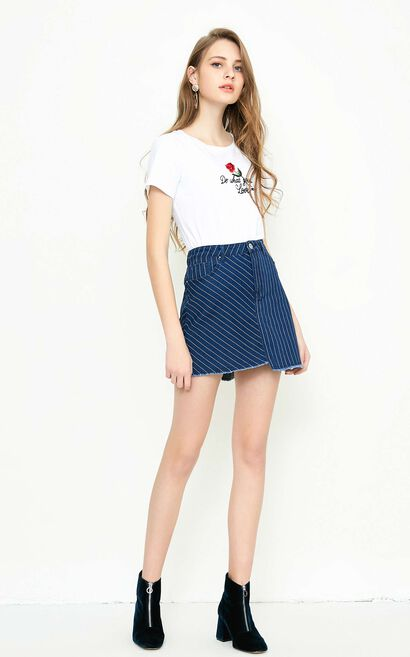 Vero Moda LOCK HW MINI DENIM SKIRT(SL), Blue, large