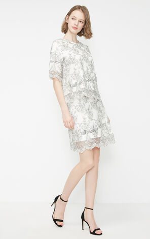 Vero Moda 2019 Summer Lace Embroidery Letter Print Slim Fit Skirt