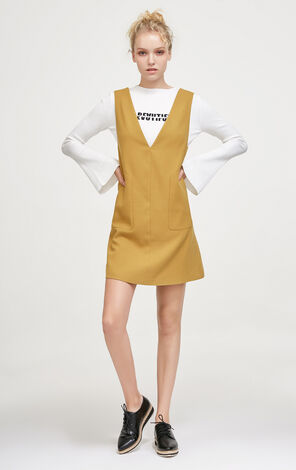 Vero Moda Two-piece Embroidered Letters Inner Overalls|31747D510