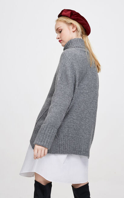 Vero Moda Women's Two-tiered High-necked Loose Fit Knit|317413538, Apricot, large