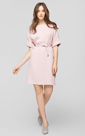 Vero Moda Round Neck Elbow Sleeve Dress|31716Z523