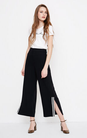 Vero Moda women's split crop wide-leg pants|318150514