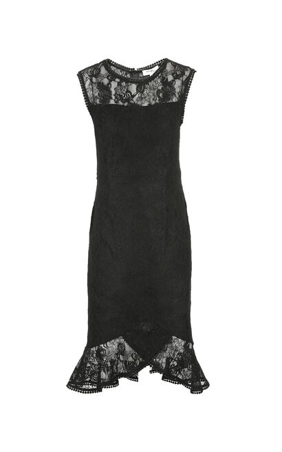 Vero Moda Women's Sleeveless See-through Lace Dress 31927A553, Black, large