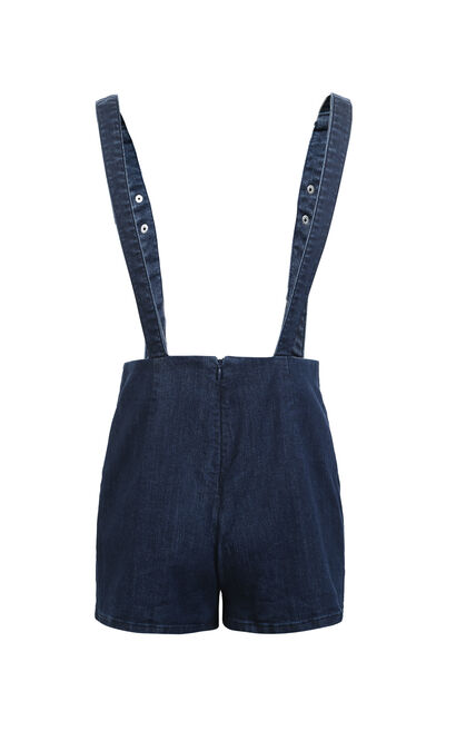 PASSION HW DENIM CATSUIT SHORTS(NN), Dark blue, large