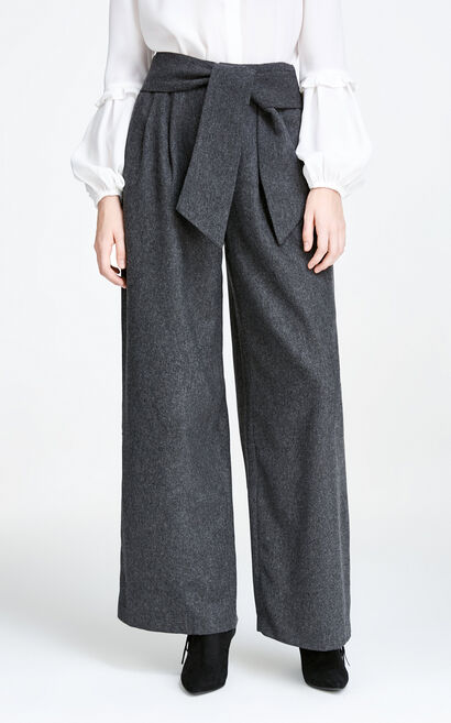 Vero Moda OL Style Wide-leg Leisure Pants|317426502, Grey, large