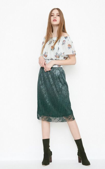 SHINE SKIRT(VMC-NN), Deep green, large