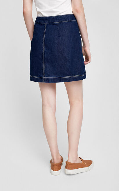 Vero Moda Visible Stitches Buttoned A-lined Skirt|317137512, Apricot, large