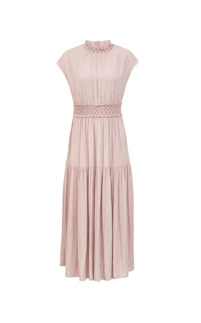Vero Moda Women Pleated Sleeveless Platycodon Dress 31937B525, Pink, large