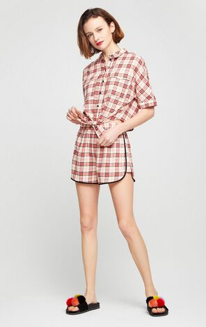 Vero Moda Wide-leg Plaid Shorts|317215514