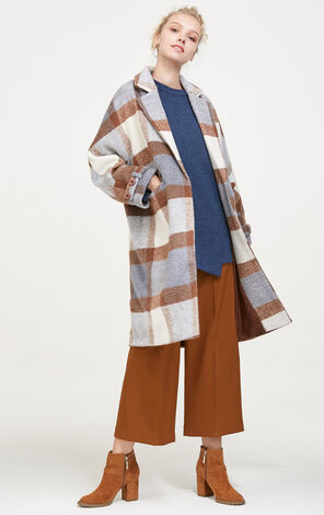 Vero Moda Plaid Pattern Long Coat|317427509