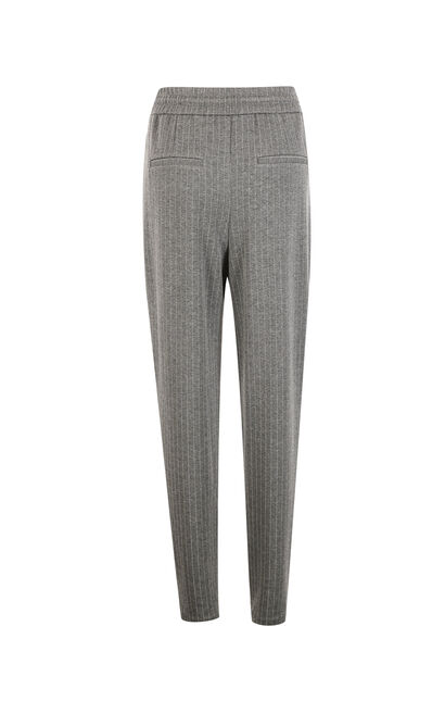Vero Moda Striped Cinched Waist Tapered Casual Pants|317450502, Grey, large