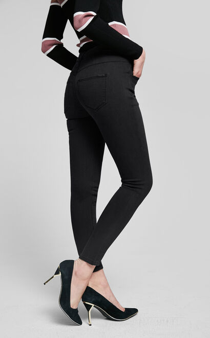 Vero Moda Slim Fit Low-rise Stretch Cotton Crop Jeans|317149515, Black, large
