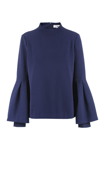 Vero Moda Two-tiered Flare Sleeves Tops 317402519, Blue, large