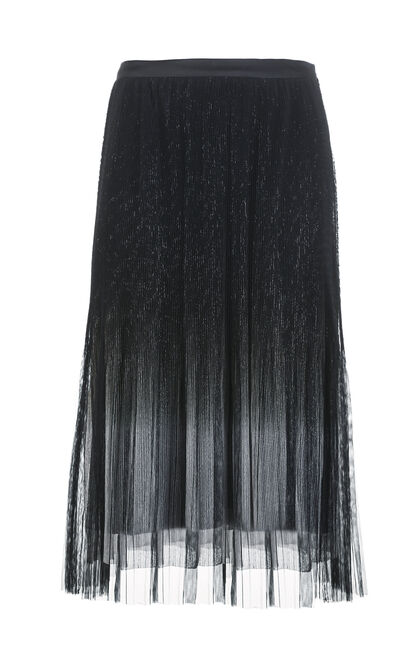 IRIS MIDI SKIRT(VMC-AL), Black, large