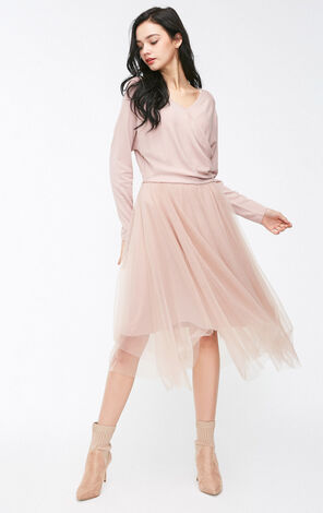 BELLE L/S JERSEY DRESS(PF)