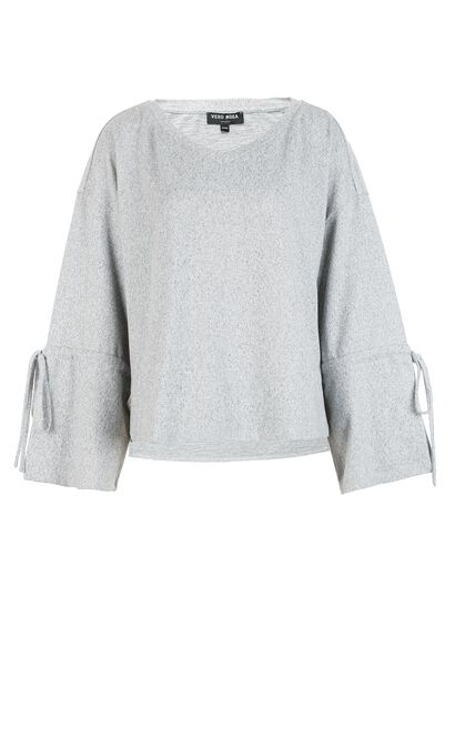 Vero Moda Big Cuffs Lace-up Knitted Tops|318102501, Light Grey, large