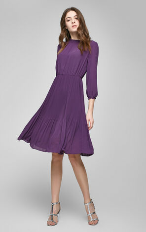 MUNICH SOLID 3/4 LONG DRESS(UM)