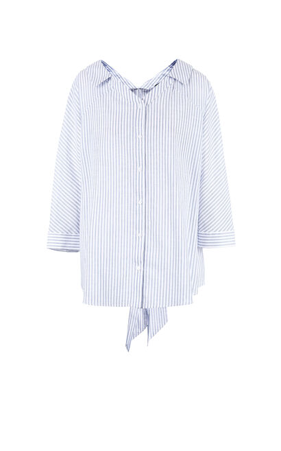 Vero Moda Waist Belt Striped 3/4 Sleeves Shirt ||318231502, Blue, large
