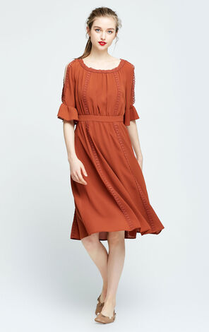 Vero Moda Off-shoulder Long Dress|31726Z514