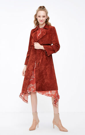 Vero Moda 2018 Winter Vintage Print Raglan Flare Sleeves Chiffon Dress