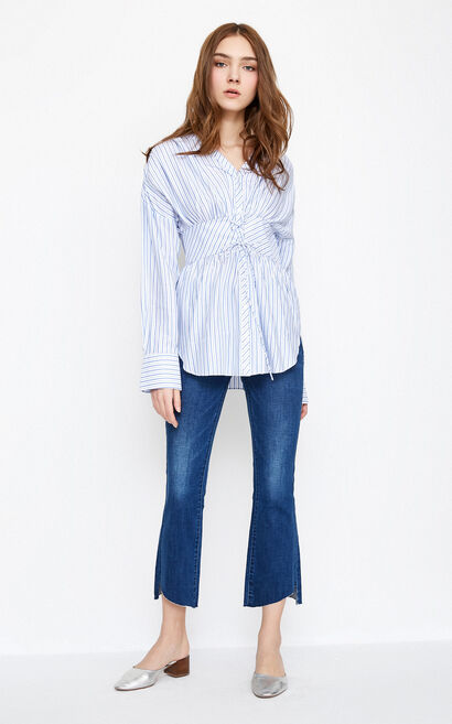 SILHOUETTE L/S SHIRT(SL), Blue, large