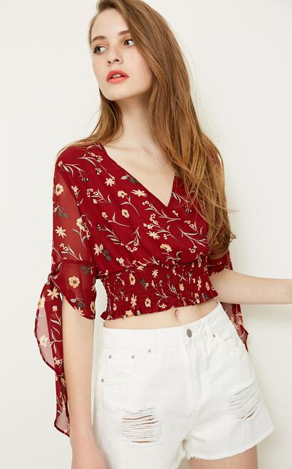Vero Moda MAG 1/2 WOVEN TOP, Red, large