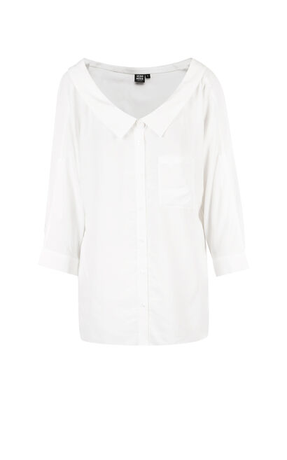 SLOPE TINA 3/4 SHIRT(NC), White, large