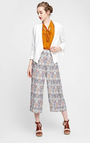 Vero Moda V-neckline One-button 3/4 Sleeves Suit Jacket|317208502